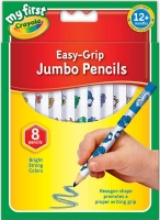 Wholesalers of Crayola 8 Easy Grip Jumbo Pencils toys image