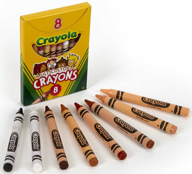 Wholesalers of Crayola 8 Mulitcultural Crayons toys
