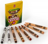 Wholesalers of Crayola 8 Mulitcultural Crayons toys image