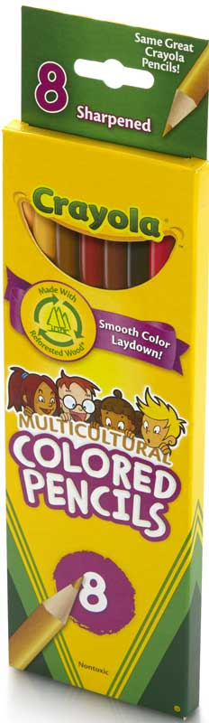 Wholesalers of Crayola 8 Multicultural Pencils toys