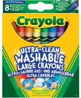 Wholesalers of Crayola 8 Washable Large Crayons toys image