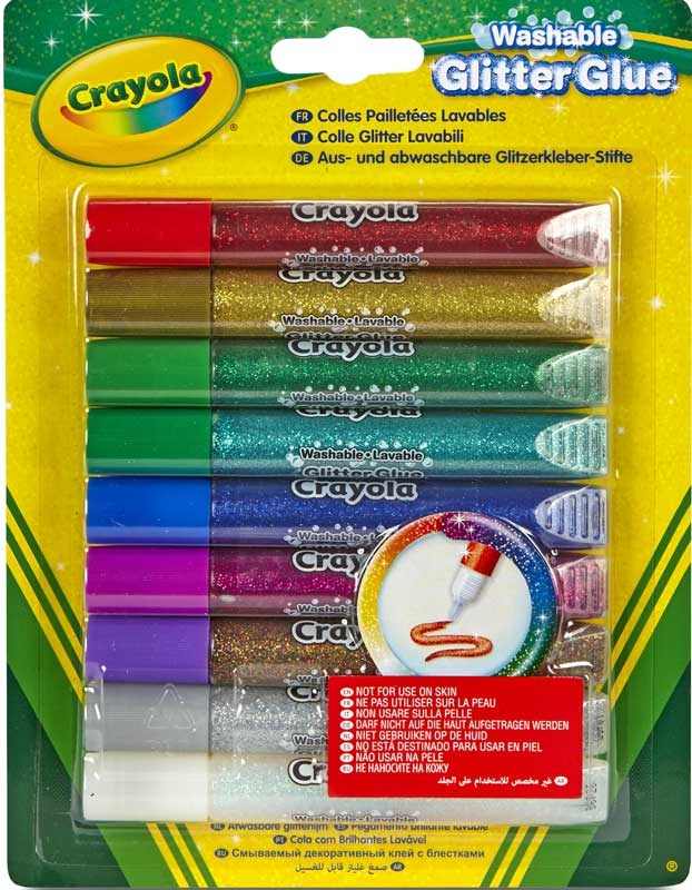 Wholesalers of Crayola 9 Washable Glitter Glue toys