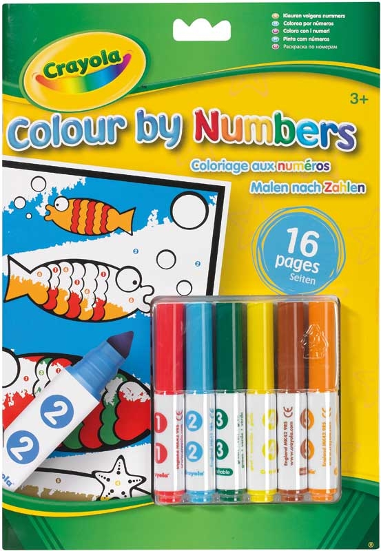 Wholesalers of Crayola Colour By Numbers With Markers toys