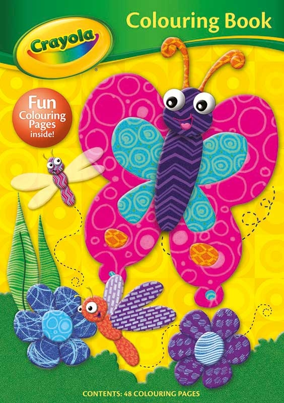 Wholesalers of Crayola Colouring Book Butterfly toys