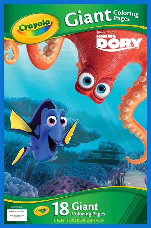 Wholesalers of Crayola Finding Dory Giant Colouring Pages toys