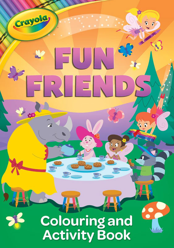 Wholesalers of Crayola Fun Friends Colouring And Activity Book toys