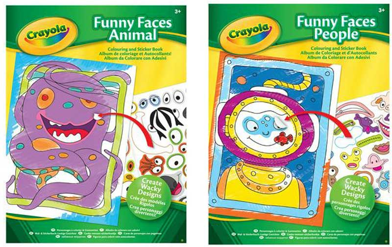 Wholesalers of Crayola Funny Faces Book Asst toys