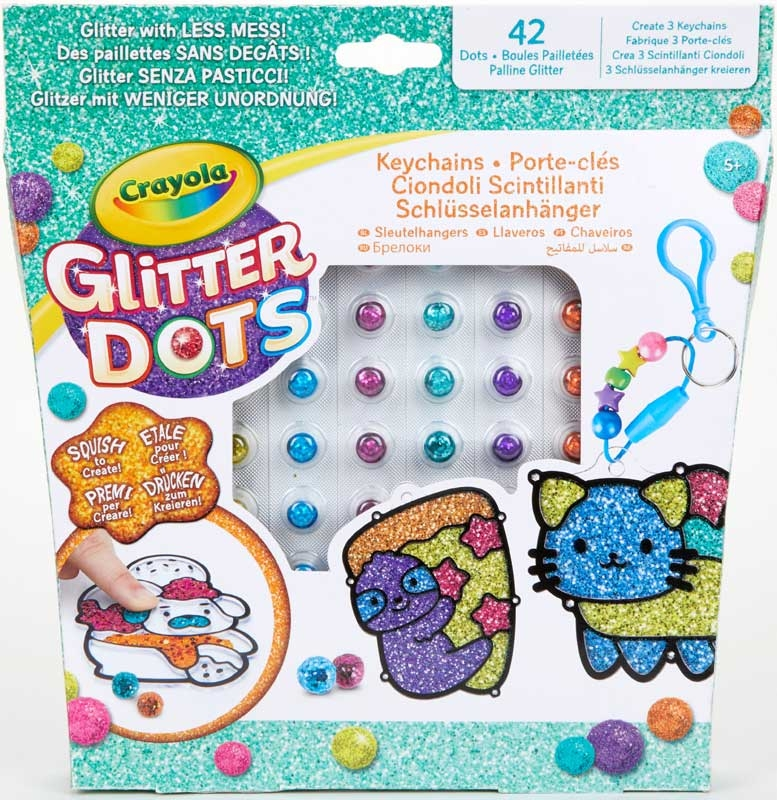 Wholesalers of Crayola Glitter Dots Keychain Friends toys