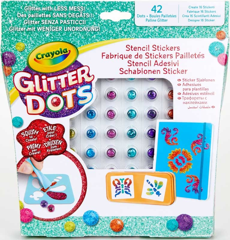 Wholesalers of Crayola Glitter Dots Sticker Stencils toys