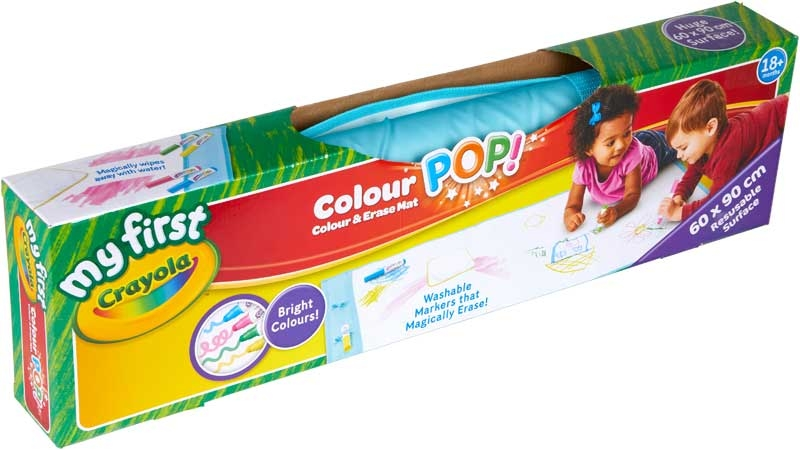 Wholesalers of Crayola My First Crayola Colour Pop Colour And Erase Mat toys