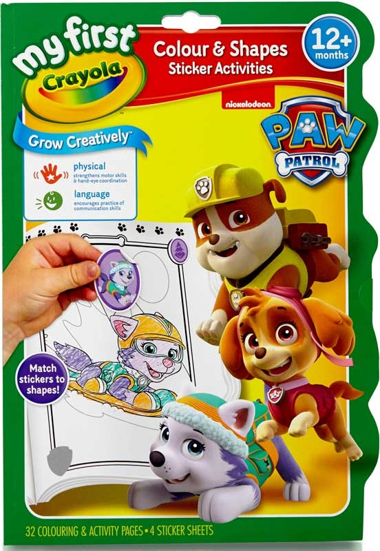 Wholesalers of Crayola Paw Patrol Colour And Shapes Activity Book toys