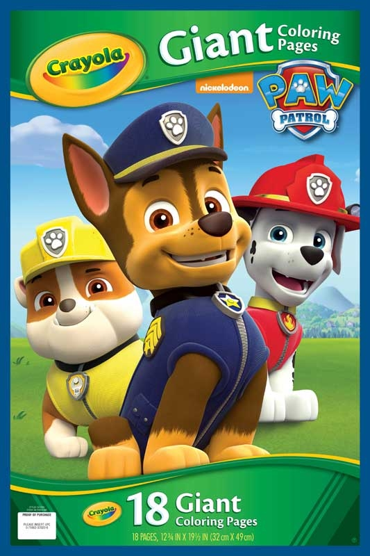 Crayola Paw Patrol Giant Colouring Pages Wholesale