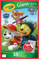 Wholesalers of Crayola Paw Patrol Giant Colouring Pages With Stickers toys image