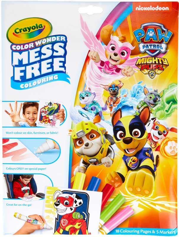 Wholesalers of Crayola Paw Patrol Mighty Pups Color Wonder toys