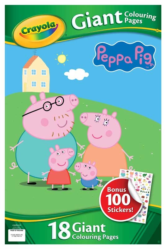 Wholesalers of Crayola Peppa Pig Giant Colouring Pages With Stickers toys