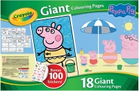 Wholesalers of Crayola Peppa Pig Giant Colouring Pages With Stickers toys image 2