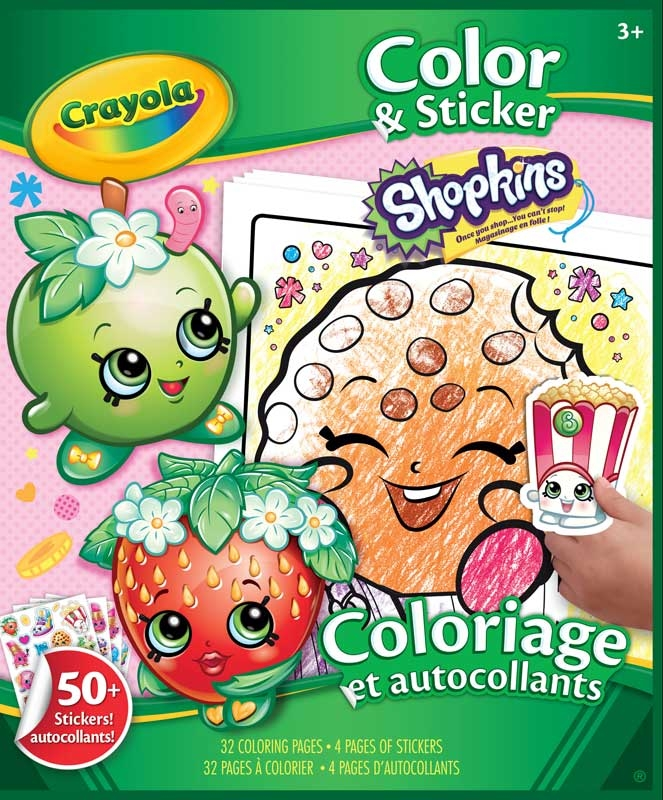 Wholesalers of Crayola Shopkins Colour And Sticker Book toys