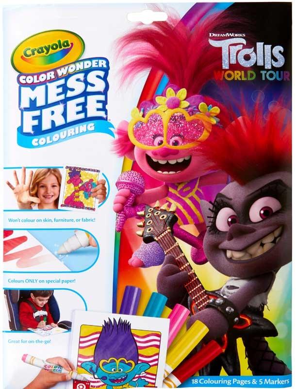 Wholesalers of Crayola Trolls 2 Colour Wonder toys