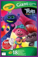 Wholesalers of Crayola Trolls 2 Giant Colouring Pages toys image
