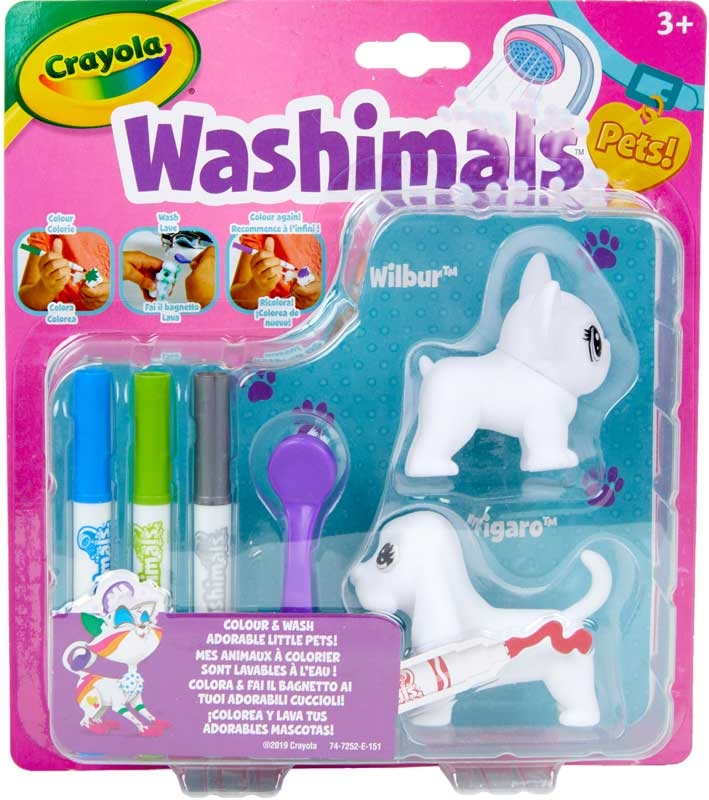 Wholesalers of Crayola Washimals Pets Blister Pack - Dogs toys