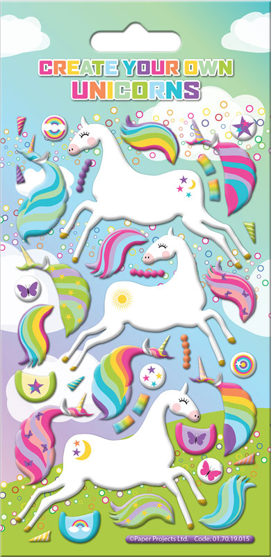 Wholesalers of Create Your Own Unicorn Stickers toys