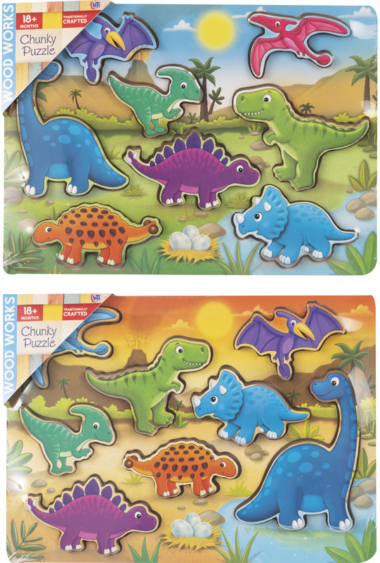 Wholesalers of Dinosaur Chunky Puzzles toys