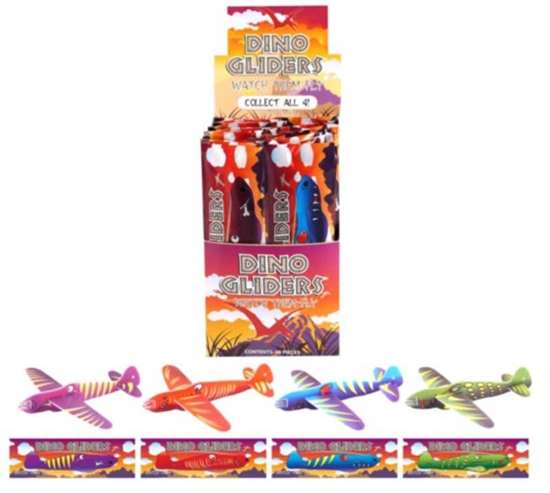 Wholesalers of Dinosaur Gliders 17cm Asst toys