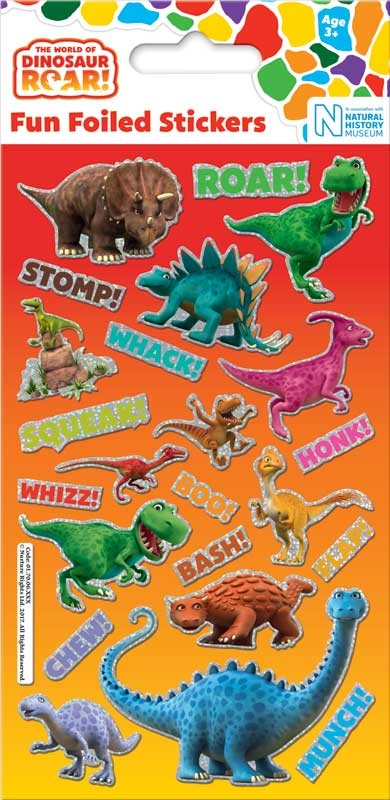 Wholesalers of Dinosaur Roar Foil Stickers toys