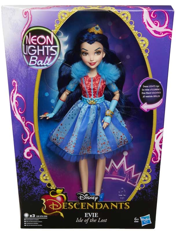 Disney Descendants Neon Lights Doll Asst Wholesale