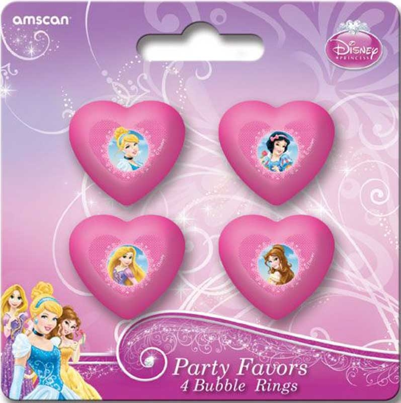 Wholesalers of Disney Princess 4 Party Favors Bubble Rings toys
