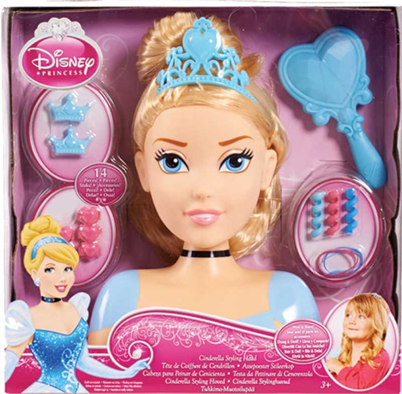 Wholesalers of Disney Princess Cinderella Styling Head toys