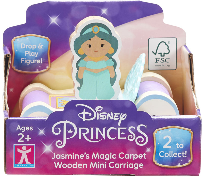 Wholesalers of Disney Princess Wooden Mini Carriages (2 Asst) toys