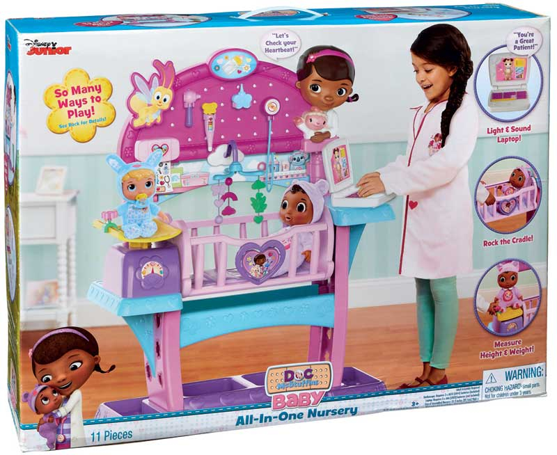 Wholesalers of Doc Mcstuffins Baby All In One Nursery toys