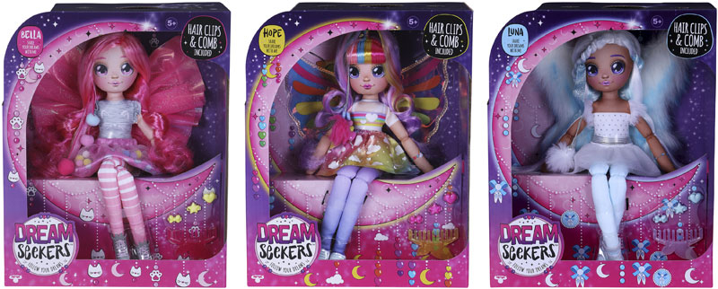 Wholesalers of Dream Seekers Doll 3 Asst toys