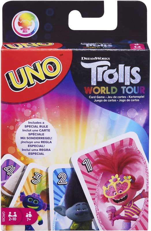 Wholesalers of Dreamworks Trolls World Tour Uno toys