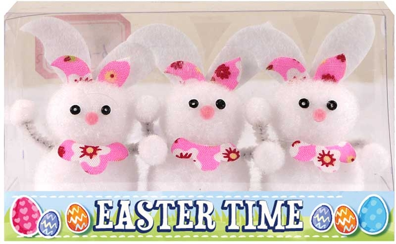 Wholesalers of Easter Bunnies 6.5cm Pk3 toys