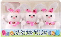 Wholesalers of Easter Bunnies 6.5cm Pk3 toys image