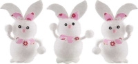 Wholesalers of Easter Bunnies 6.5cm Pk3 toys image 2