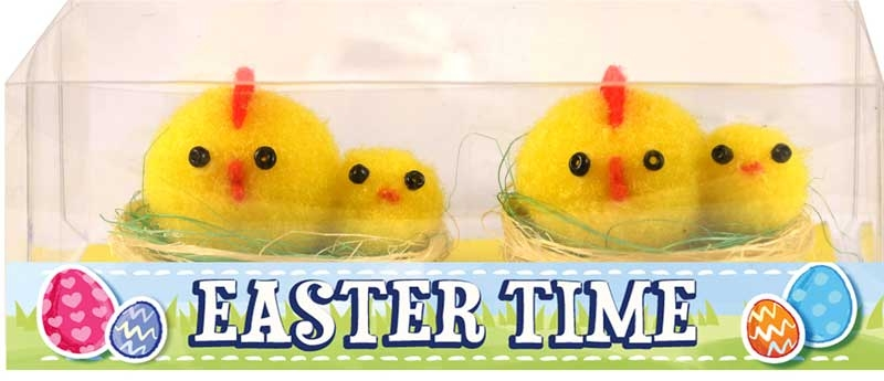 Wholesalers of Easter Chick & Baby Yellow On Nest 3x4cm Pk2 toys