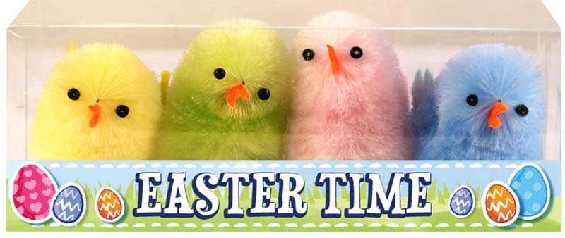 Wholesalers of Easter Chicks Multi Colour 4cm Pk4 toys
