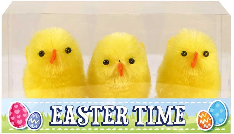 Wholesalers of Easter Chicks Yellow 6cm Pk3 toys