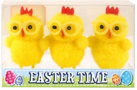 Wholesalers of Easter Chicks Yellow With Glasses 6cm Pk3 toys image