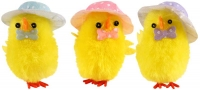 Wholesalers of Easter Chicks Yellow With Hat & Bowtie 5cm Pk3 toys image 2