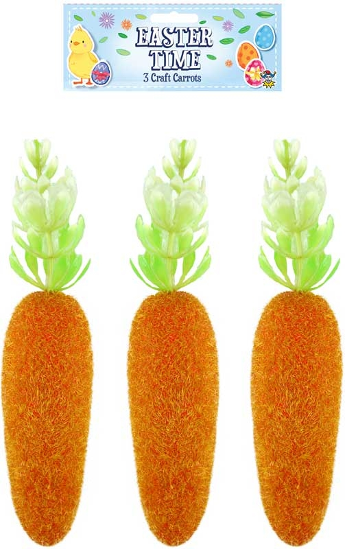 Wholesalers of Easter Craft Carrot 15cm 3pk toys