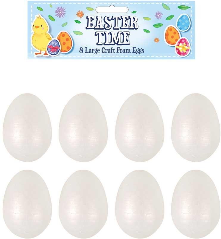 Wholesalers of Easter Craft Kit Foam Eggs 6.5cm toys