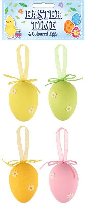 Wholesalers of Easter Eggs Coloured Asst 4cm Pk4 toys