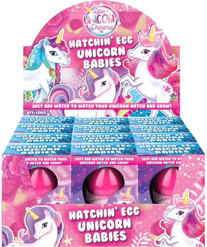 Wholesalers of Egg Growing Unicorn 4 Cols 6 Asst toys