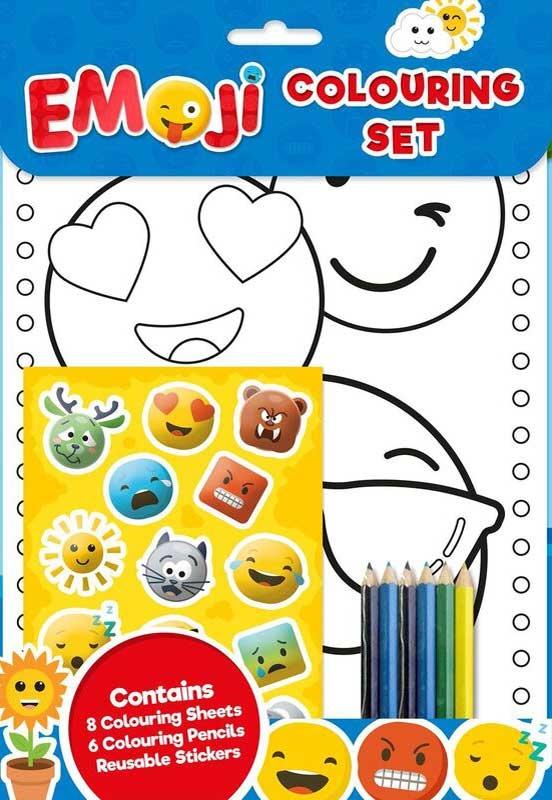 Wholesalers of Emoji Colouring Set toys