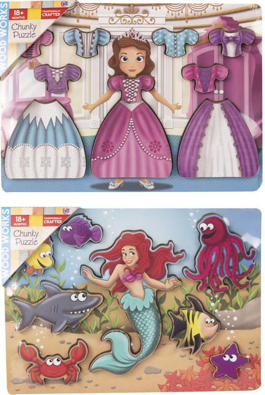 Wholesalers of Enchanted Chunky Puzzle Asst toys
