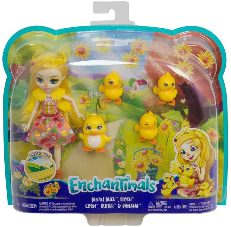 Wholesalers of Enchantimals Dinah Duck Doll With Slosh & Family toys